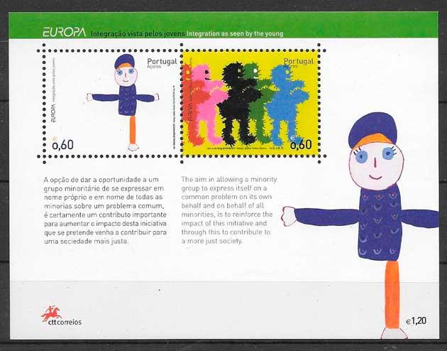 sellos tema Europa Azores 2006