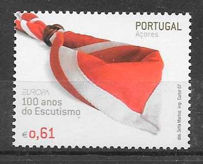 sellos tema Europa Azores 2007