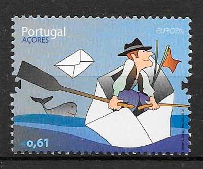 filatelia tema Europa Azores 2008