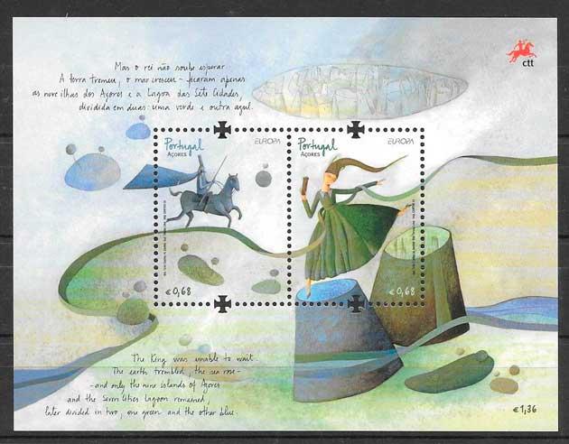 filatelia colección tema Europa Azores 2010