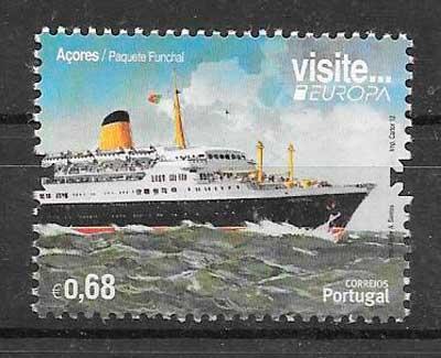 sellos tema Europa Azores 2012