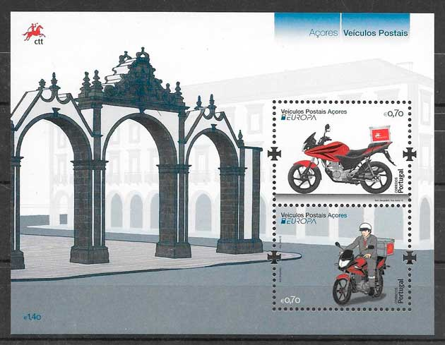 filatelia tema Europa Azores 2013