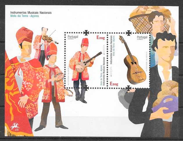 filatelia colección tema Europa Azores 2014