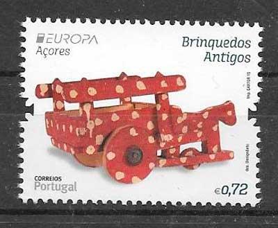 filatelia colección Azores Tema Europa 2015