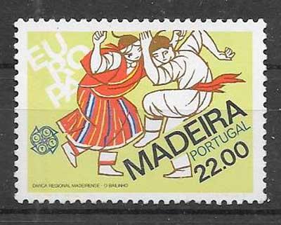sellos tema Europa Madeira 1981
