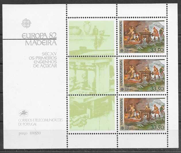 sellos tema Europa Madeira 1982
