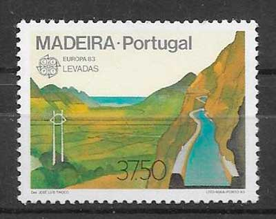 filatelia tema Europa Madeira 1983