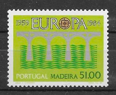 filatelia tema Europa Madeira 1984