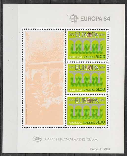 filatelia tema Europa 1984