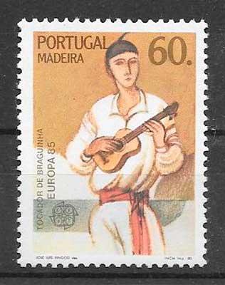 filatelia colección tema Europa Madeira 1985
