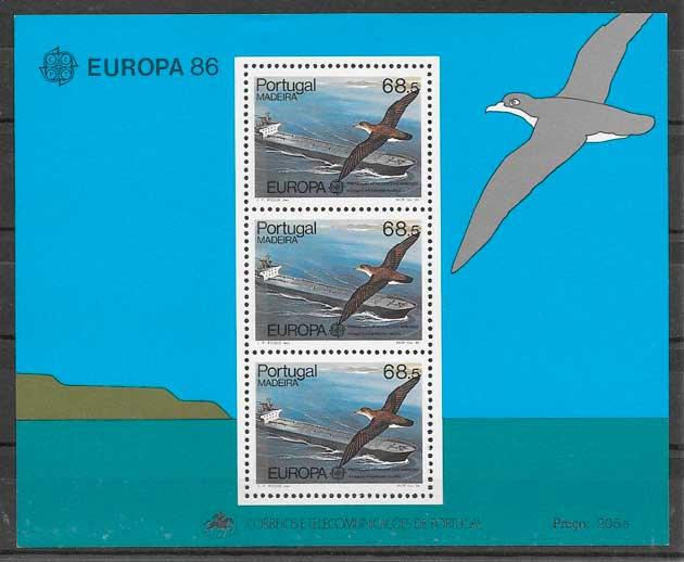 colección sellos tema Europa Madeira 1986