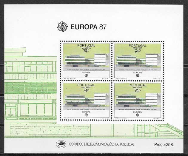 colección sellos tema Europa Madeira 1987