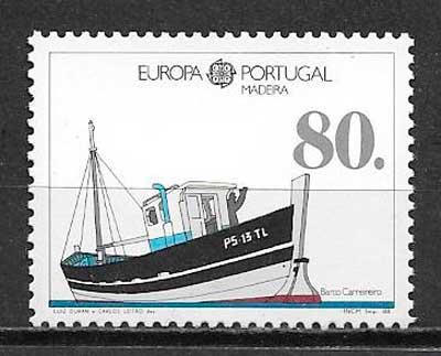 sellos tema Europa Madeira 1988