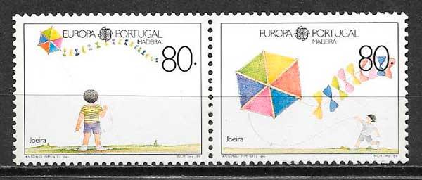 filatelia tema Europa Madeira 1989