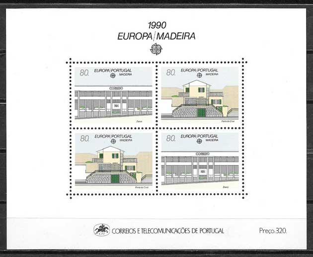 filatelia colección tema Europa Madeira 1990