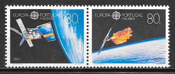 colección sellos tema Europa 1991