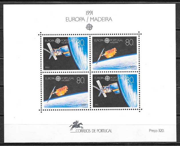colección sellos tema Europa Madeira 1991