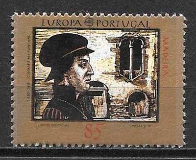 colección sellos tema Europa Madeira 1992