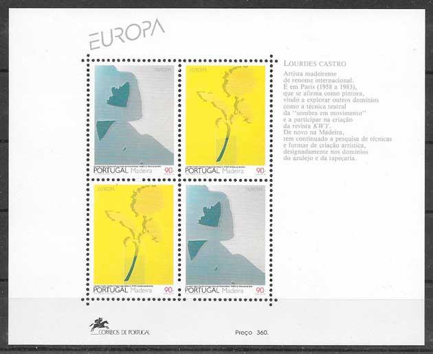 colección sellos tema Europa Madeira 1993