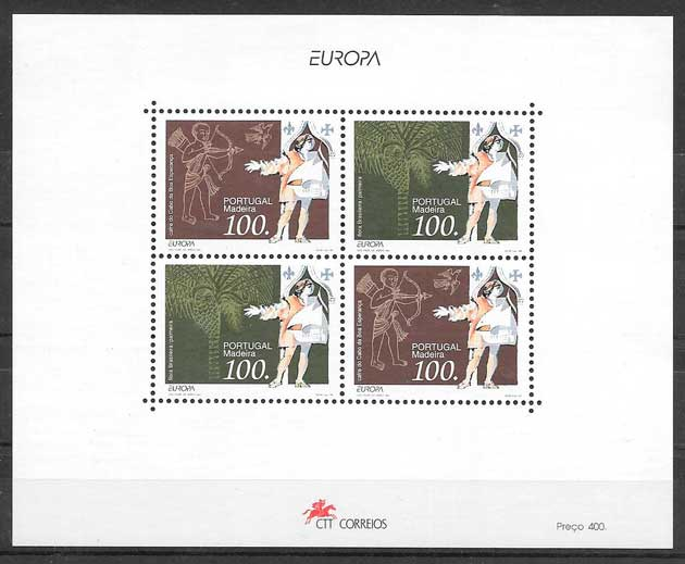 sellos tema Europa Madeira 1994