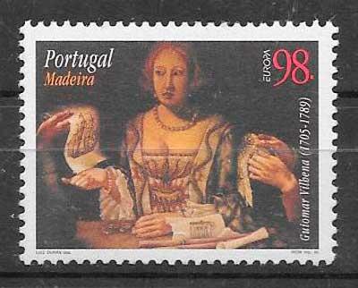 sellos tema Europa Madeira 1996
