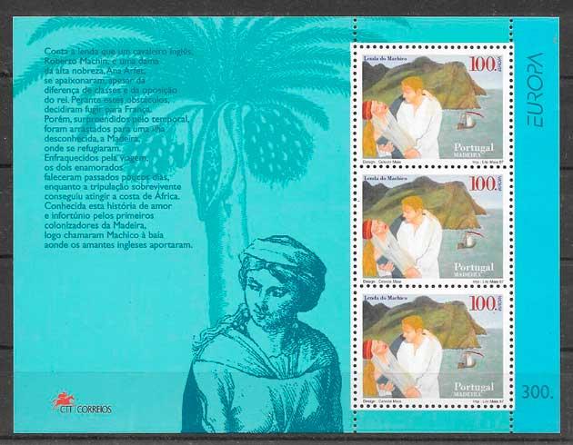 sellos tema Europa Madeira 1997