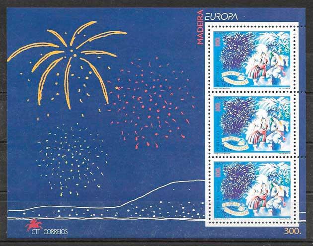 filatelia tema Europa Madeira 1998