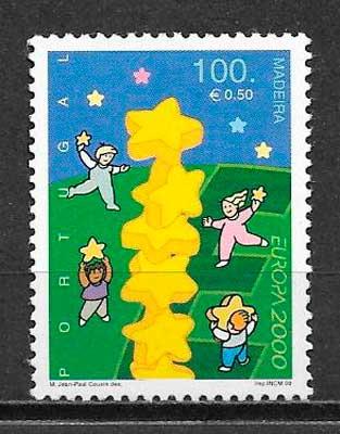 filatelia colección tema Europa Madeira 2000