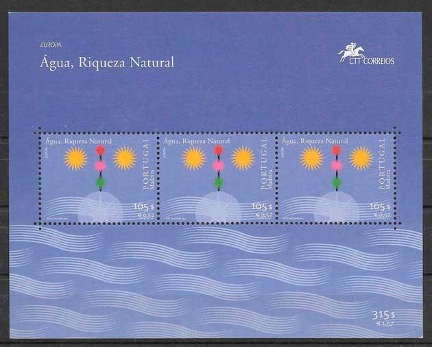 sellos tema Europa Madeira 2001
