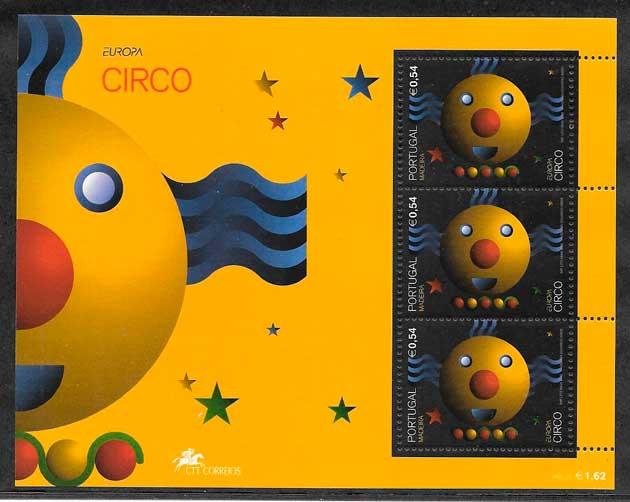 sellos tema Europa Madeira 2002