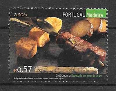 filatelia tema Europa Madeira 2005