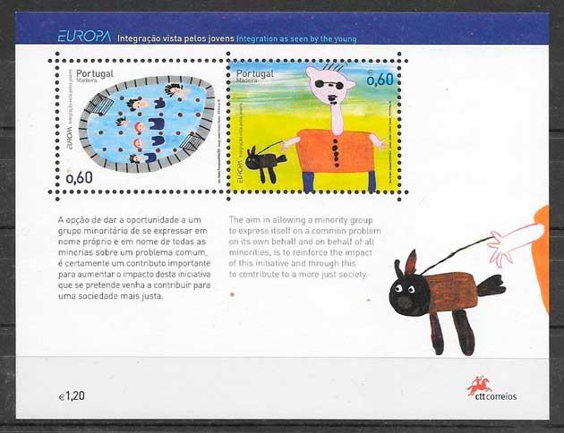 filatelia colección tema Europa Madeira 2006