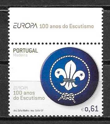 colección filatelia tema Europa Madeira 2007