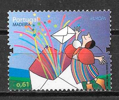 filatelia colección tema Europa 2008 Madeira
