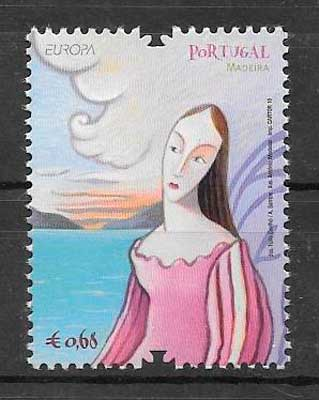 sellos tema Europa Madeira 2010