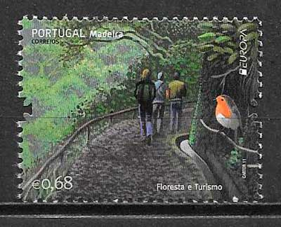 sellos tema Europa Madeira 2011