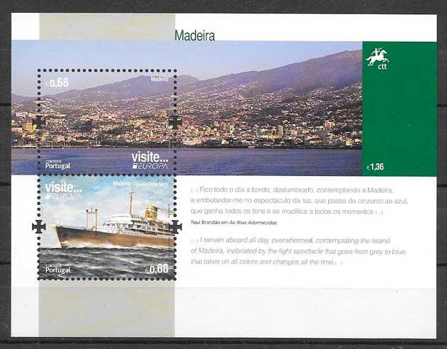 filatelia tema Europa 2012 Madeira