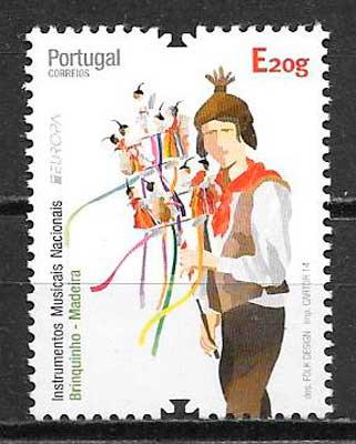 colección sellos tema Europa Madeira 2014