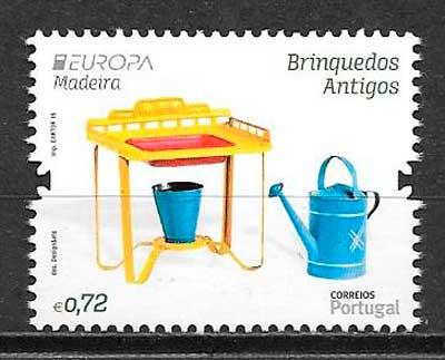 colección sellos tema Europa Madeira 2015