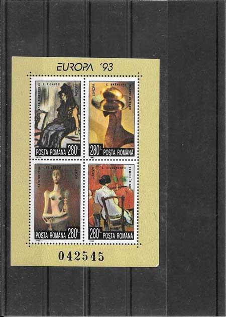 Sellos Tema Europa Rumanía Arte Contemporaneo1993-02