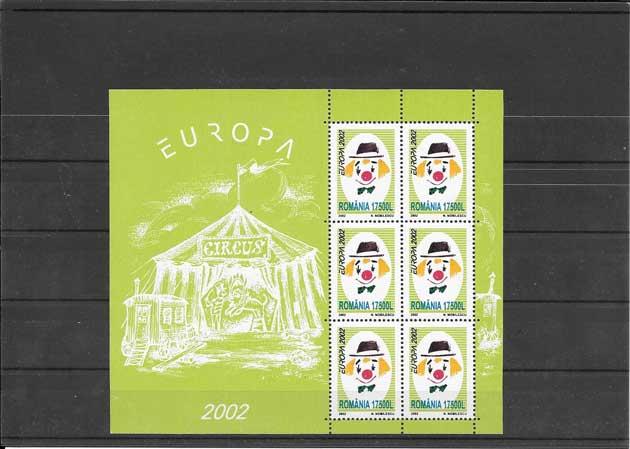 Sellos filatelia Tema Europa Rumanía El Circo 2002-04