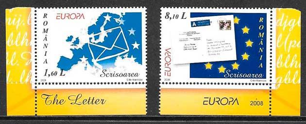colección sellos tema Europa Rumania 2003