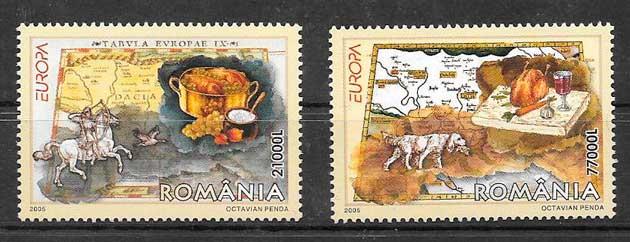 filatelia tema Europa Rumanía 2005