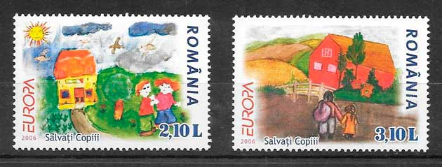 filatelia tema Europa Rumanía 2006