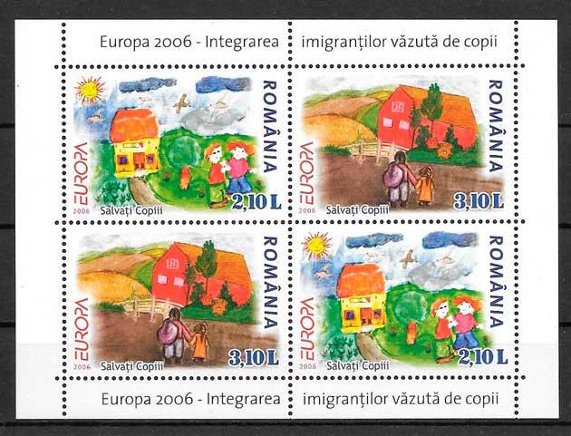 filatelia colección tema Europa Rumanía 2006