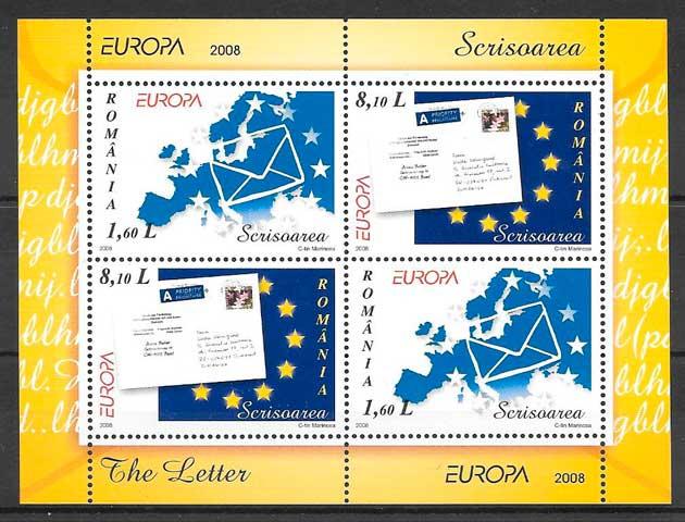 filatelia colección tema Europa 2008 Rumanía