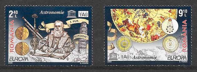 colección sellos tema Europa Rumanía 2009