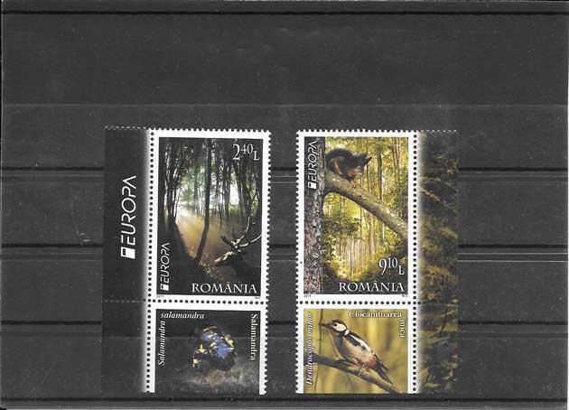Colección sellos Tema Europa Rumanía Los Bosque