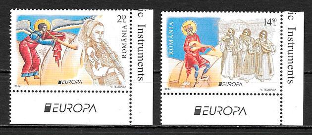 colección sellos Europa Rumanía 2014