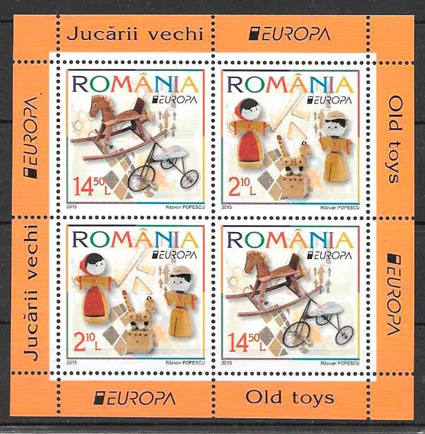 colección sellos tema Europa Rumanía 2015